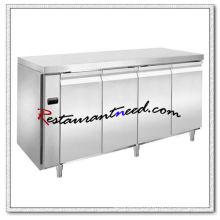 R308 4 puertas lujoso Fancooling refrigerador / congelador debajo del mostrador
