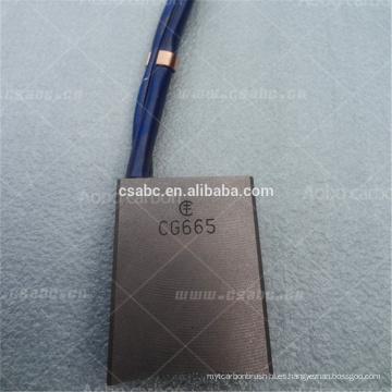 cepillo de carbón de protección de iluminación