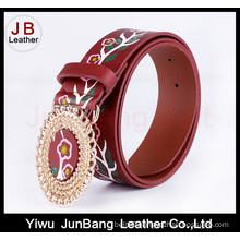 Floral Designs Printing PU Belt for Men and Women