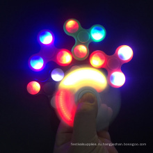 Горячий продавать новый дизайн светодиодные игрушки мигающий свет ручная вертушка для непоседа помощи
