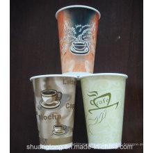 Taza de papel de 12 onzas (taza fría) Taza de papel tazas desechables