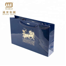 Custom Printed Eurotote Style Luxury Gold Stamping Glossy Lamination Paper Giftbag With Logo