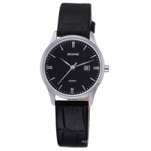 SKONE 9309 simple style genuine leather wrist watches for lady