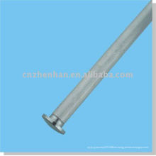 Cortina accesorios-tapa de la tapa de la cortina del metal (tamaño pequeño) para el carril inferior redondo del componente de la cubierta de la persiana-ventana de la cortina