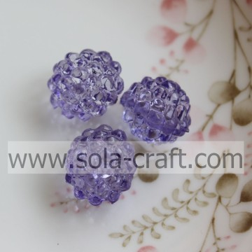 Fashion 12x14MM Purple Color Acrylic Crystal Berry Beads For Jewelry