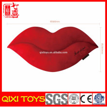Wholesale plush mouth shaped cushion, stuffed plush lip cushion