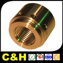 Peças de torneamento CNC de cobre polido para máquina de montagem de automação