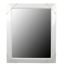 White Plastic Mirror Frame