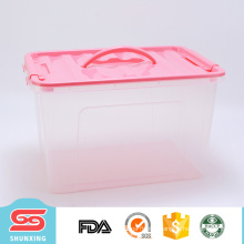 Hot selling portable home container large plastic storage boxes with cover