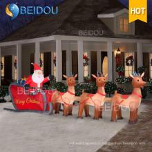 Гигантские рождественские надувные надувные надувные надувные рождественские украшения на санях