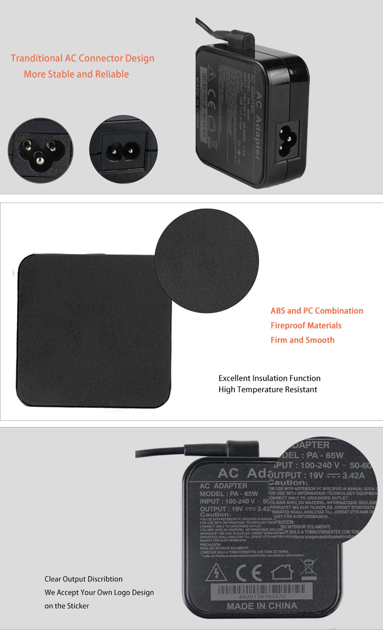 Laptop ac adapter for asus
