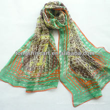 SD319-123 fashion designer silk scarf