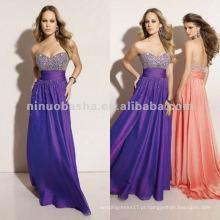 NY-2360 vestido de quinceanera de busto com contas