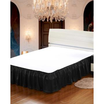 19 Momme Silk Bedskirt Wrap Around Ruffled Bed Skirt with Adjustable Elastic Belt Queen King and C-King