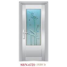 Porta de aço inoxidável para a luz do sol exterior (SBN-6721)