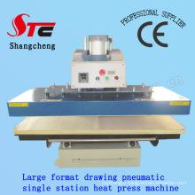 Drawing Automatic Heat Press Machine 60*80cm Pneumatic Drawing Single Station Heat Printing Machine T-Shirt Heat Transfer Machine Stc-Qd08
