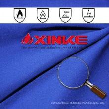 Tecido retardante de fogo de cetim para roupas unissexo