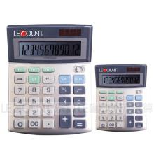 Calculadora do Office Dual Power Office de 12 dígitos com função de seleção de arredondamento (LC288)