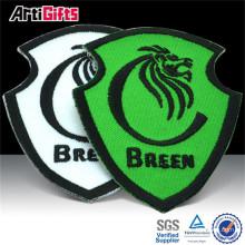 Étiquette tissée de tissu de haute qualité et badge
