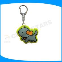 Porte-clés 100% pvc, porte-clés réflexe avec forme personnalisée