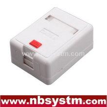 Caixa de superfície de 1 porta com 1 pcs keystone jack ou sem