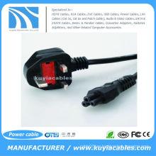 Nuevo 3 pin UK C5 Cloverleaf hoja de trébol de alimentación de cable de alimentación para portátiles adaptadores