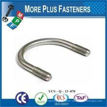 Made in Taiwan Round and Square U Bolt Stainless Steel Carbon Steel Zinc Plated