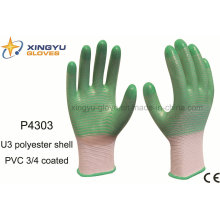 U3 Shell PVC 3/4 Coated Safety Work Glove (P4303)