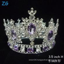 Hottest!!!Luxurious Crystal Tiaras Purple Diamond Tiara Princess Crown bridal crown full round pageant crown