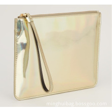 Metallic Gold Classic Ladies Evening Clutch Wallet, Purse, Bag