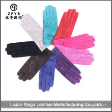 Good Quality New color pig suede leather gloves pig leather gloves factory