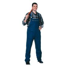 Dunkelblaue Trägerhose aus 65% Polyester und 35% Baumwolle