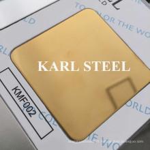 Feuille de 8k de miroir de Kmf002 de couleur de l'acier inoxydable 304 de haute qualité
