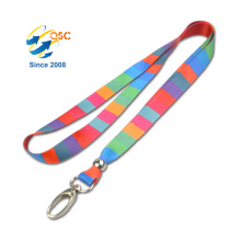 Fashion Printed Polyester Lanyard Neck Strap And Key Holder Heat Transfer Lanyard Manufactory