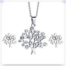 Accessoires de bijoux en cristal Ensemble de bijoux en acier inoxydable (JS0254)