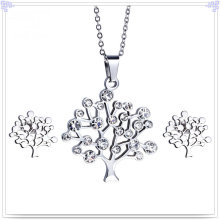 Jóias de cristal acessórios de moda jóias de aço inoxidável conjunto (js0254)