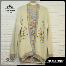 Women Oversized Colour Flower Cardigan
