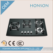 China Supplier Built-in Tempered Glass 4 Burners Gas Hob
