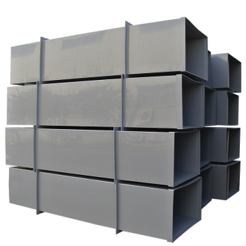 Plastic ventilation pipe with rectangular shape