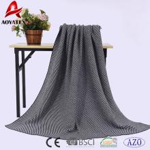 Nouvelle conception Jacquard plaine noël acrylique tricot jeter couverture
