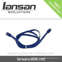 Câble CAT6 plat avec connecteur RJ45 Couleurs optionnelles