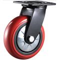 Roulette pivotante à roulement à double roulette pivotante PU