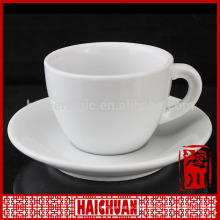180cc 6oz plain white fancy coffee cup and saucers sets logo decal printing