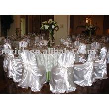 Satinado bolsa de cubierta de la silla, cubierta de la silla de auto-tie/Universal, cubierta de la silla del banquete