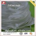 Gancho plano blanco para consumibles de mascarillas de plástico con buena elasticidad Poliéster Spandex suave y limpio