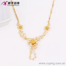 Le plus chaud Xuping Bijoux De Mode 18 K Plaqué Or Fleur Femmes Collier En Alliage De Cuivre De L'environnement 42714