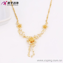 Hottest Xuping Fashion Jewelry 18k Gold-Plated Flower Women Necklace in Environmental Copper Alloy 42714