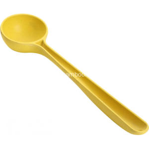 Yellow Long Handle Circular Spoon
