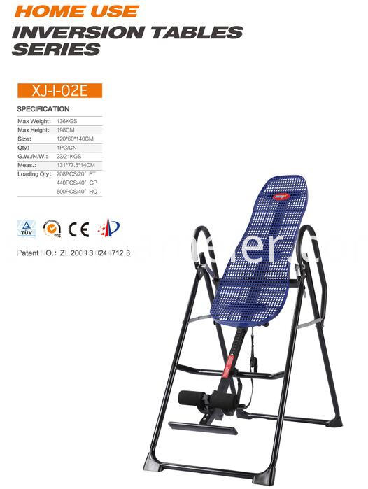 Blue Plastic Back Inversion Table