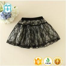 Grossiste En stock item Mini robe en dentelle noire jupe midi tutu en coton blanc